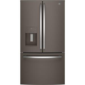 GE® ENERGY STAR® 25.6 Cu. Ft. French-Door Refrigerator - FINGERPRINT RESISTANT SLATE