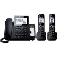 See Details - Expandable Corded/Cordless Phone with 1 Corded Handset and 2 Cordless Handsets