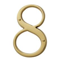 Lifetime Polished Brass House Number - 8