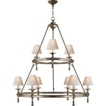 E. F. Chapman Classic 9 Light 45 inch Antique Nickel Chandelier Ceiling Light