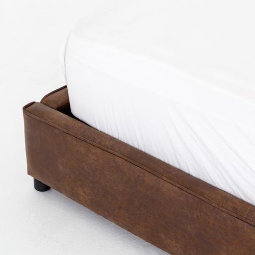 Queen Size Vintage Tobacco Cover Aidan Bed