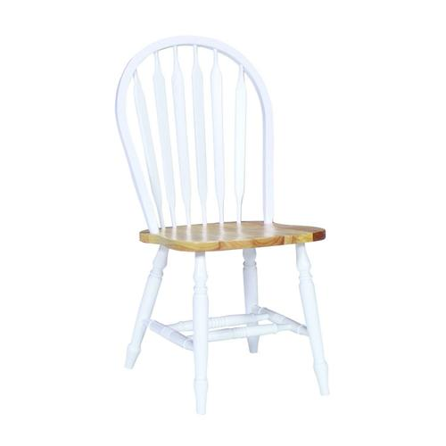 Arrowback Chair in White & Natural