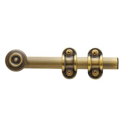 Baldwin - Satin Brass and Black Ornamental Heavy Duty Surface Bolt