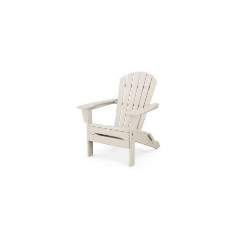 Polywood Furnishings - South Beach Folding Adirondack Chair in Sand