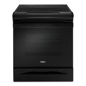 4.8 cu. ft. Guided Electric Front Control Range With The Easy-Wipe Ceramic Glass Cooktop Black