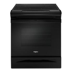 Whirlpool4.8 cu. ft. Guided Electric Front Control Range With The Easy-Wipe Ceramic Glass Cooktop Black