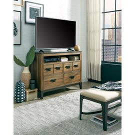 Media Chest - Sepia/Sienna \u0026 Metal Finish