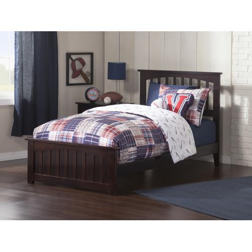 Mission Twin XL Bed with Matching Foot Board in Espresso