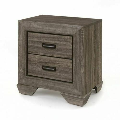 ACME Lyndon Nightstand - 26023 - Weathered Gray Grain