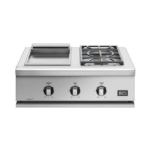 "30"" Griddle/double Side Burner, Lp Gas"