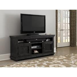 """See Details - 64\"""" Console - Distressed Black Finish"""