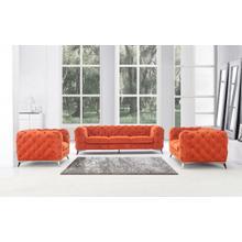 Product Image - Divani Casa Delilah - Modern Orange Fabric Sofa Set