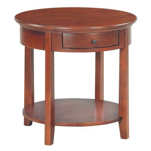 """GAC McKenzie Round End Table (26""""D)"""
