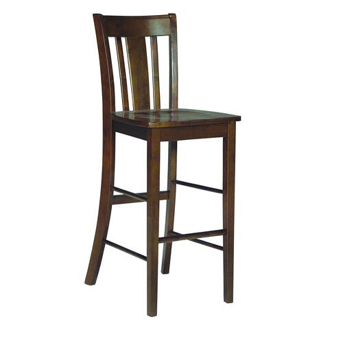 John Thomas Furniture - San Remo Stool in Espresso