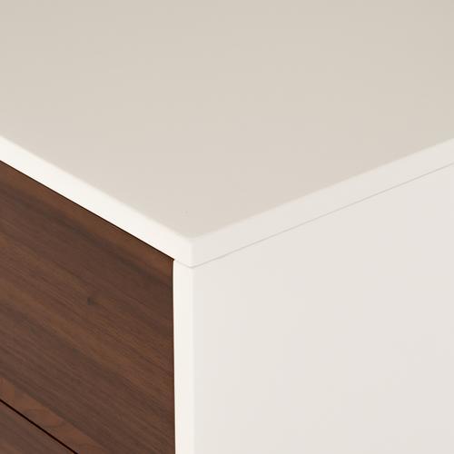 Tucker 3 Drawer Dresser-white