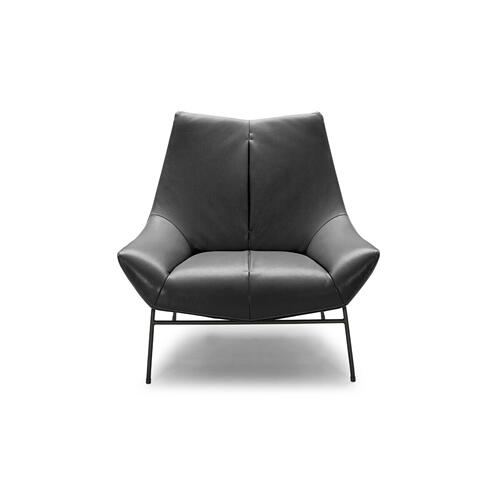 VIG Furniture - Divani Casa Colt Modern Grey Eco-Leather Accent Chair