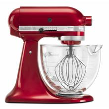 View Product - Artisan® Design Series 5 Quart Tilt-Head Stand Mixer with Glass Bowl - Candy Apple Red