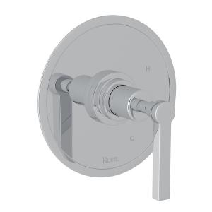 Polished Chrome Lombardia Pressure Balance Trim Without Diverter with Metal Lever Product Image