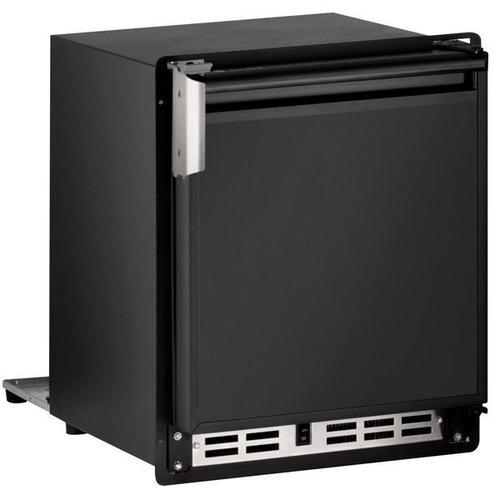 """U-Line - 15"""" Crescent Ice Maker With Black Solid Finish (115 V/60 Hz Volts /60 Hz Hz)"""