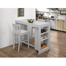 Ash Grey Counter Height Storage Table