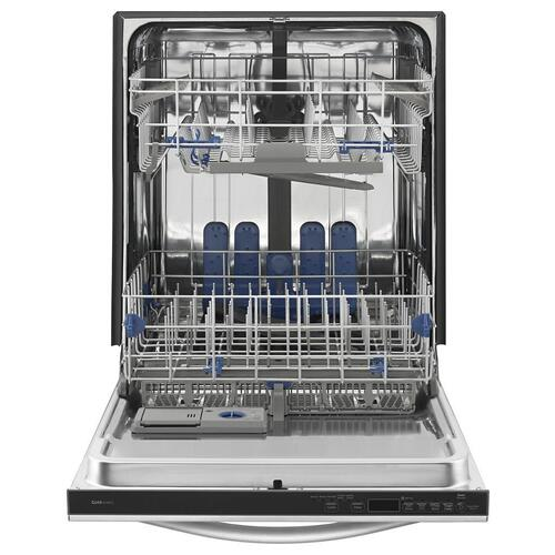 Whirlpool Gold® Dishwasher with TotalCoverage Spray Arm.    (This is a Stock Photo, actual unit (s) appearance may contain cosmetic blemishes. Please call store if you would like actual pictures). This unit carries our 6 month warranty, MANUFACTURER WARRANTY and REBATE NOT VALID with this item