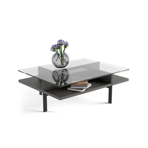 Rectangular Coffee Table 1152 in Charcoal Stained Ash