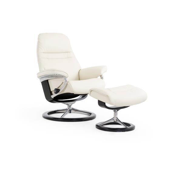 Stressless By Ekornes - Stressless Sunrise Medium Signature Base Chair and Ottoman