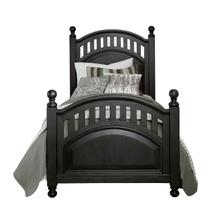 See Details - Kids Twin Poster Bed Headboard in Charcoal Brown