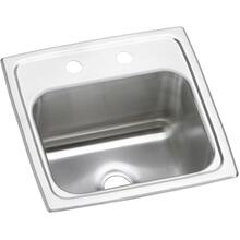 "See Details - Elkay Celebrity Stainless Steel 15"" x 15"" x 6-1/8"", Single Bowl Drop-in Bar Sink"