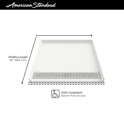 American Standard - Townsend 38x38-inch Solid Surface Shower Base  American Standard - Soft White