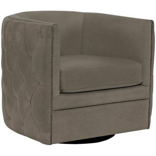 Palazzo Swivel Chair in #44 Antique Nickel