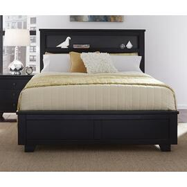4/6-5/0 Full/Queen Bookcase Headboard - Black Finish