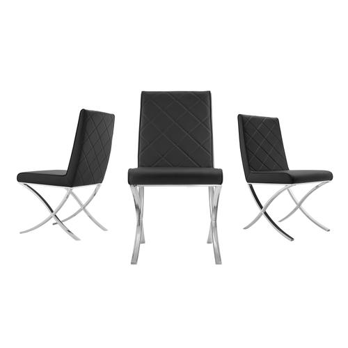 The Loft Black Eco-leather Dining Chairs