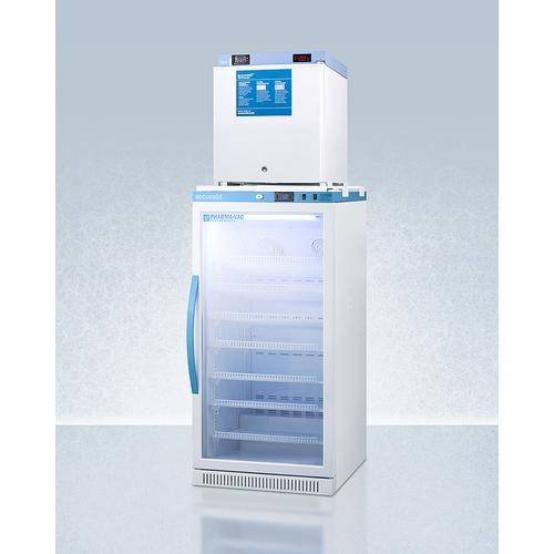 Stacked Combination of Arg8pv All-refrigerator and Fs24lmed2 Compact Manual Defrost All-freezer for Vaccine Storage