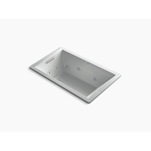 "Ice Grey 60"" X 36"" Heated Whirlpool Bath With Reversible Drain"
