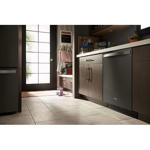 Smart Dishwasher with Stainless Steel Tub Fingerprint Resistant Black Stainless