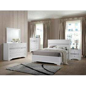 ACME Naima Twin Bed (No Storage) - 25760T - White