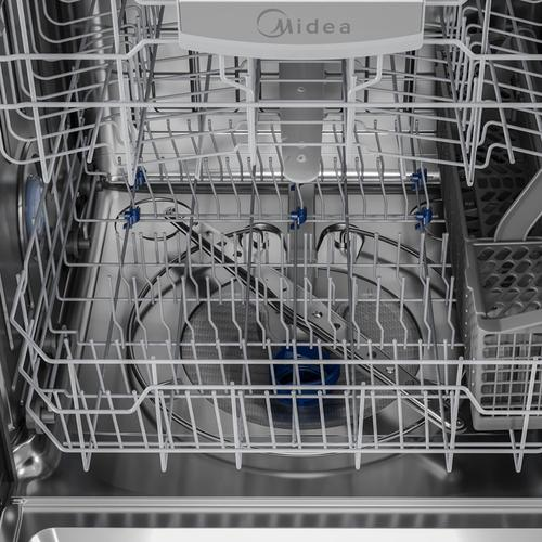 Midea - 49 dBA Dishwasher with Extended Dry in Stainless Steel