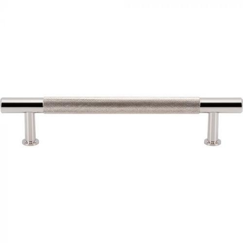 Vesta Fine Hardware - Beliza Knurled Bar Pull 5 1/16 Inch (c-c) Polished Nickel Polished Nickel