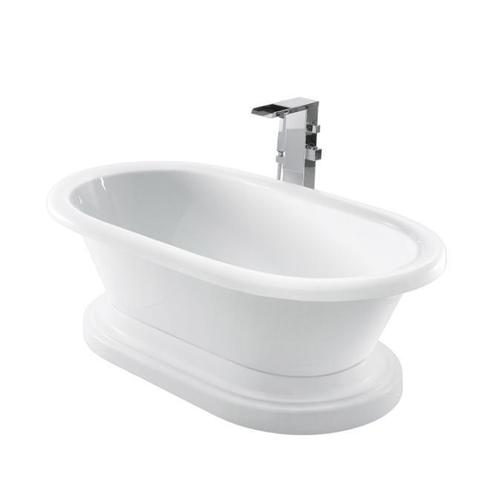 """Corinne 72"""" Acrylic Double Roll Top Tub on Base - Tap Deck - No Drillings"""