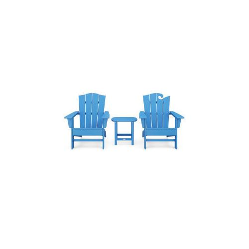 Polywood Furnishings - Wave Collection 3-Piece Set in Pacific Blue