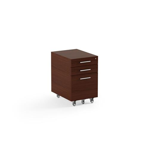 Low Mobile File Pedestal 6007 2 in Chocolate Stained Walnut