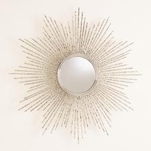 See Details - Square Beaded Burst Mirror-Brass-Lg