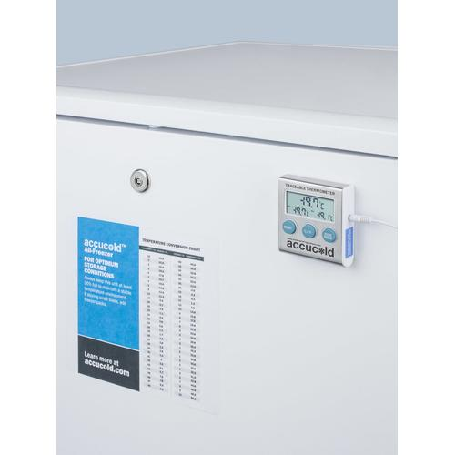"""Summit - 24"""" Wide All-freezer for Freestanding Use, Manual Defrost With A Nist Calibrated Thermometer, Lock, and -25 c Capability"""