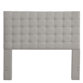 Bergen Queen Headboard Only- Dove Gray
