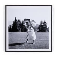 """40""""x40"""" Size Golfing Hepburn By Getty Images"""