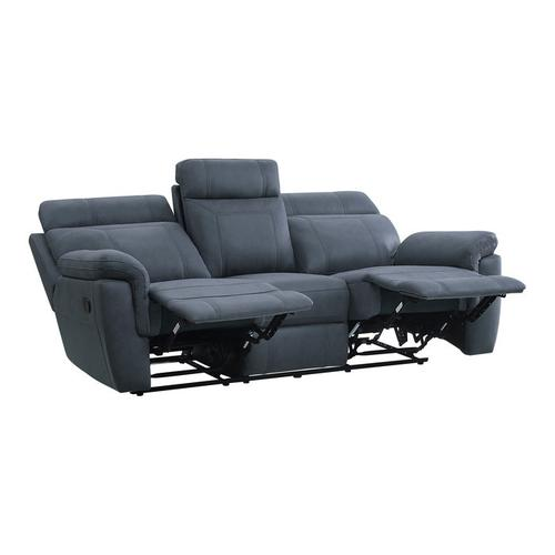 Gallery - Double Reclining Sofa with Drop-Down Cup Holders