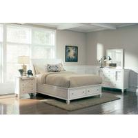 Sandy Beach White Queen Four-piece Bedroom Set Product Image