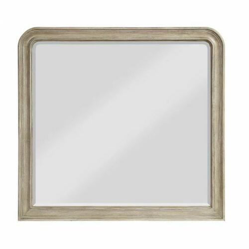 ACME Wynsor II Mirror - 27734 - Transitional - Mirror, Wood (Pine/Poplar), Wood Veneer (Oak), MDF,PB - White-Washed