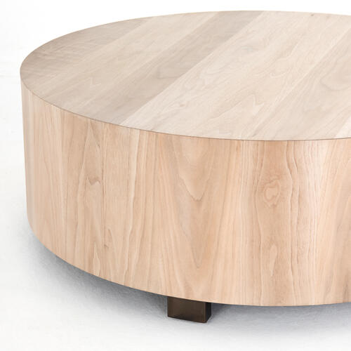 Ashen Walnut Finish Hudson Round Coffee Table